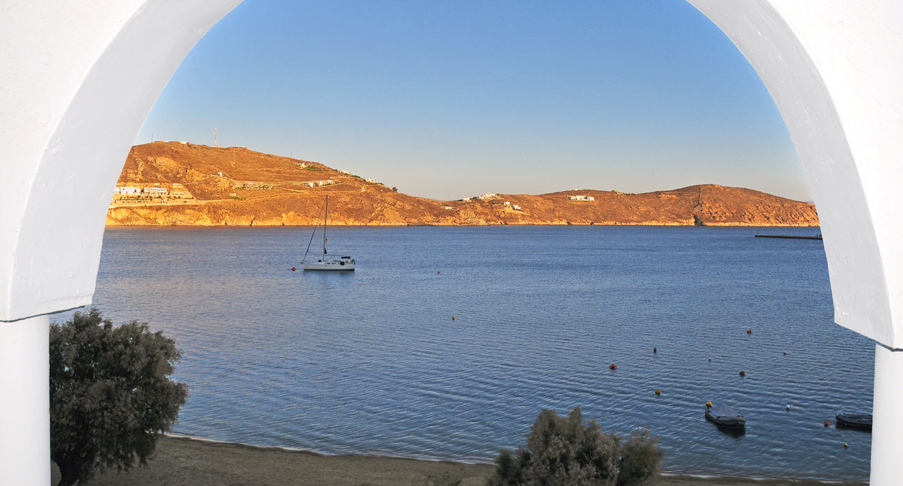 Spectacular sea view from our rooms in Serifos Greece