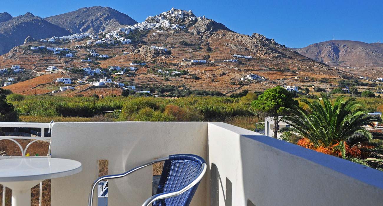 View to Chora from Maistrali Hotel in Serifos