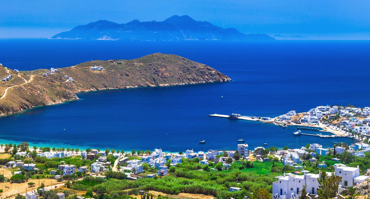 Overview of Serifos island Greece