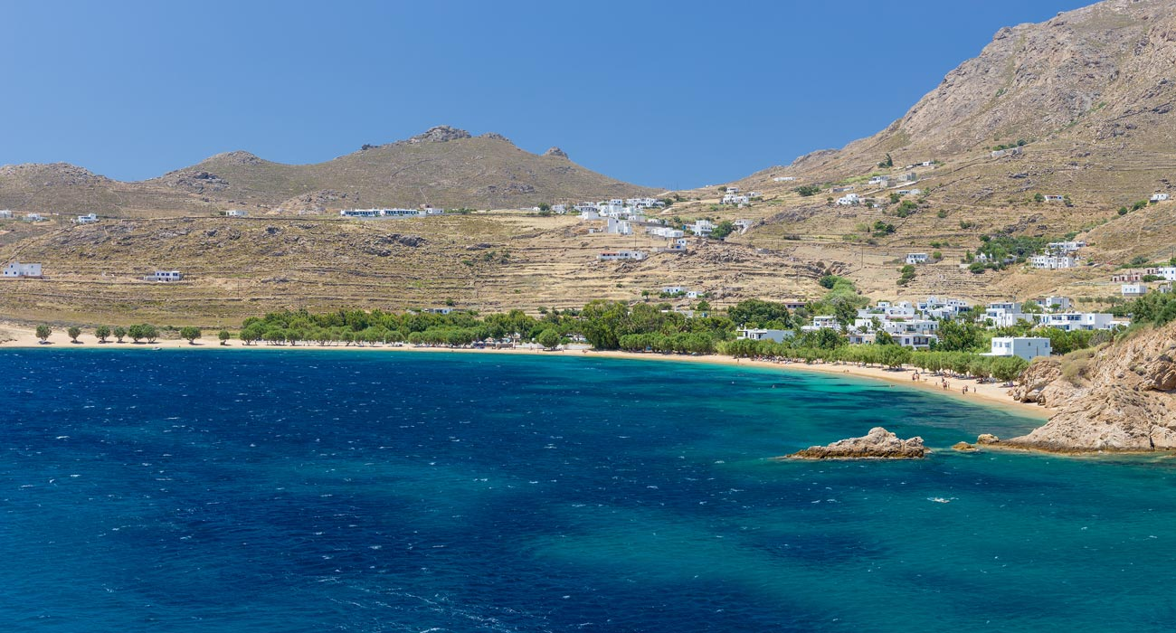 One of the most famous beaches on Serifos Island Greece