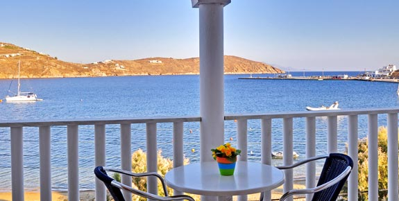 View from Maistrali Hotel in Serifos