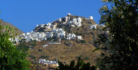 Overview of Chora in Serifos Greece